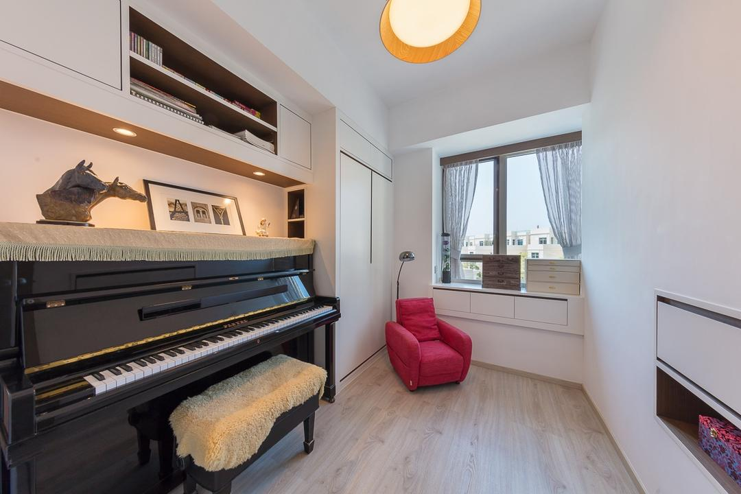 逸瓏灣, am PLUS, 當代, 私家樓, Couch, Furniture, Grand Piano, Leisure Activities, Music, Musical Instrument, Piano, Indoors, Interior Design