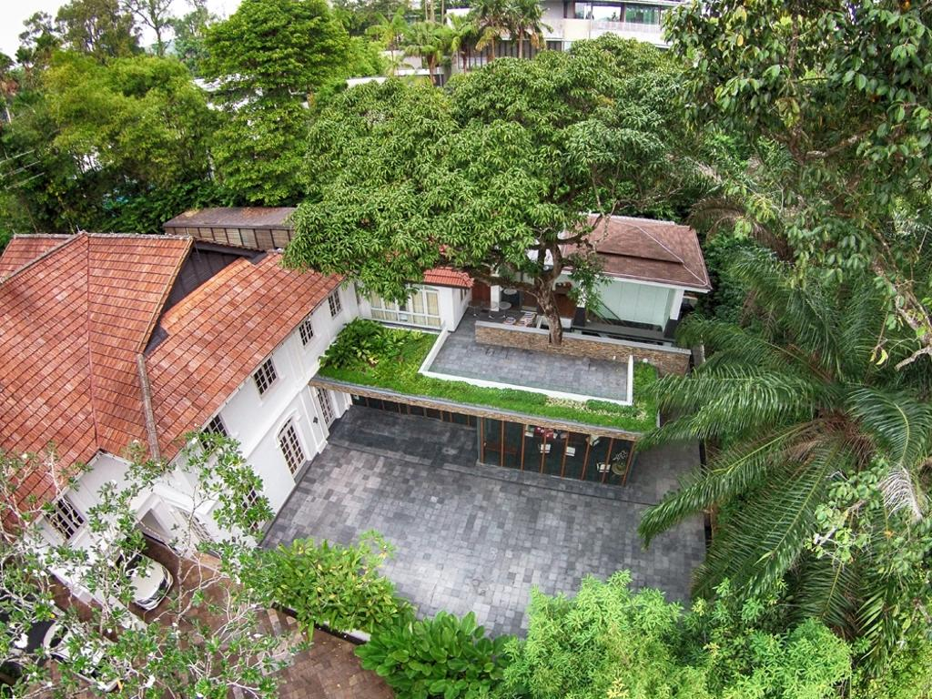 Traditional, Landed, Three Pavillion, Architect, KAIA Architects, Backyard, Outdoors, Yard, Building, Cottage, House, Housing