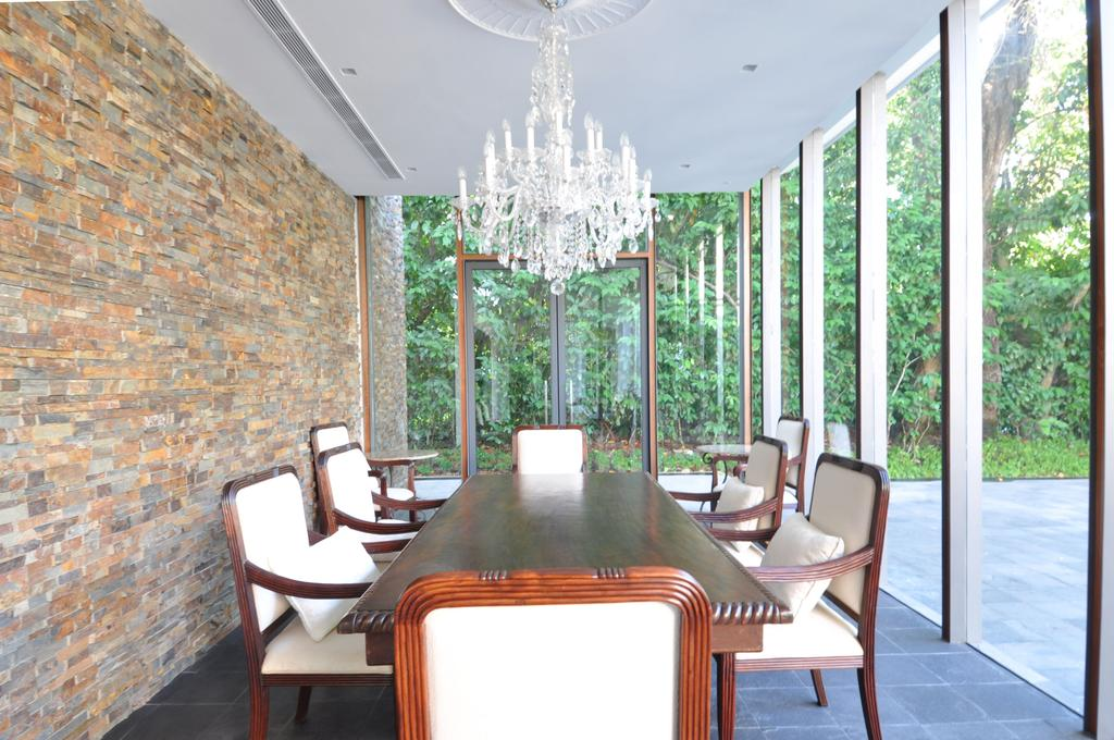 Traditional, Landed, Dining Room, Three Pavillion, Architect, KAIA Architects, Chair, Furniture, Indoors, Interior Design, Room, Dining Table, Table