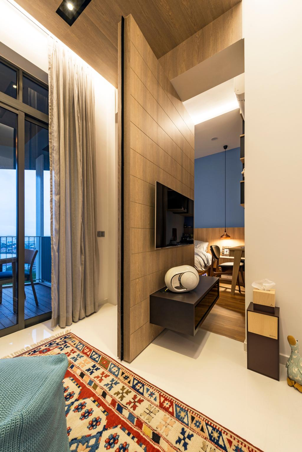 Modern, Condo, Living Room, The Skywoods, Interior Designer, Artmuse Interior, HDB, Building, Housing, Indoors