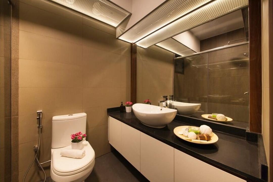 Punggol (Block 258C), DreamCreations Interior, Traditional, Kitchen, HDB, Bathroom Vanity, Sink, Bathroom Sink, Bowl Sink, Mirror