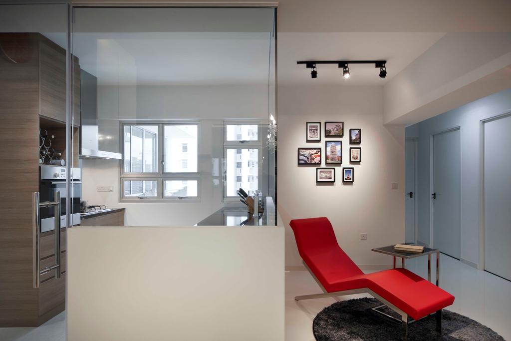 Modern, HDB, Living Room, Strathmore Avenue (Block 62A), Interior Designer, De Exclusive Design Group, Chair, Furniture, White Board