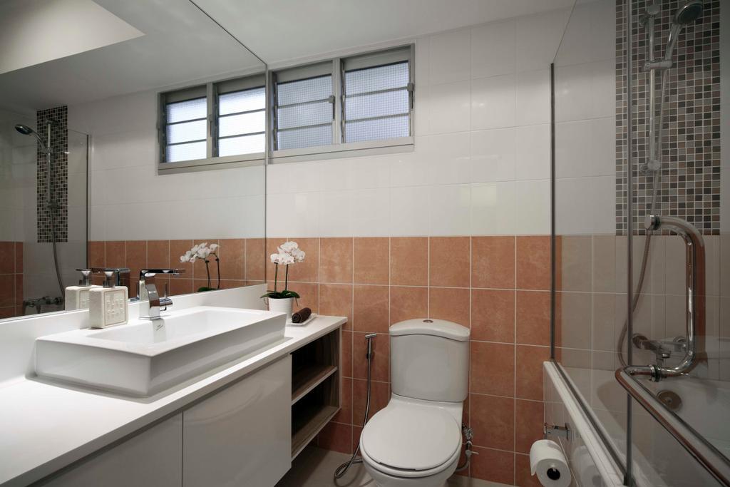 Modern, HDB, Bathroom, Strathmore Avenue (Block 62A), Interior Designer, De Exclusive Design Group, Indoors, Interior Design, Room, Sink