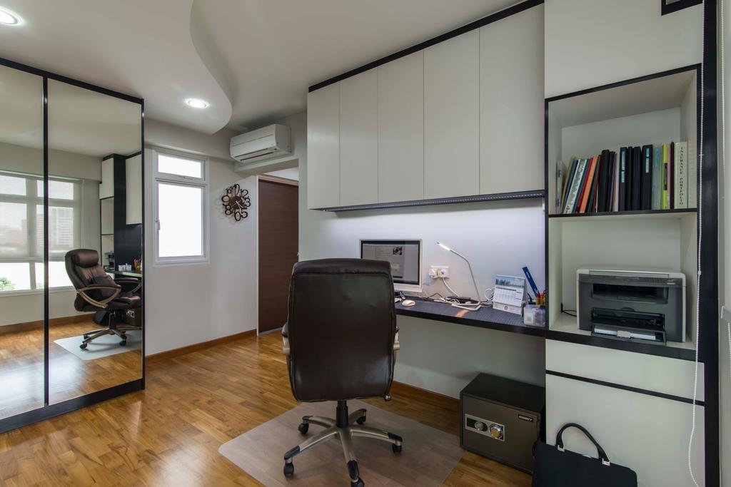 Contemporary, HDB, Bedroom, Sengkang East Avenue (Block 282C), Interior Designer, De Exclusive Design Group, Chair, Furniture, Building, Housing, Indoors, Loft