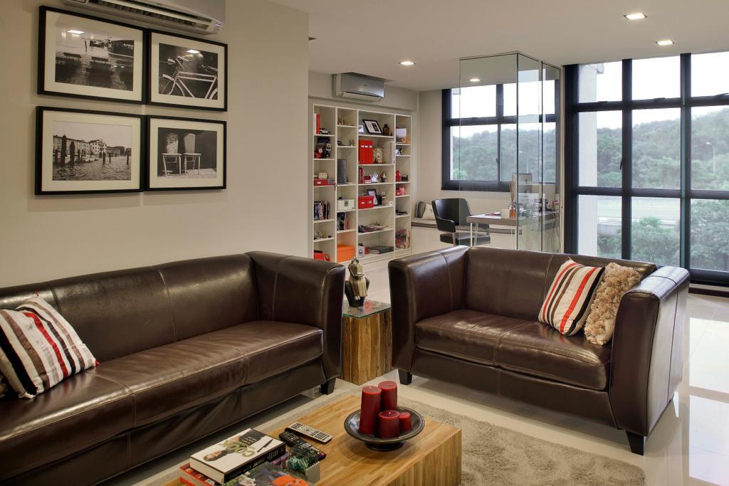 Modern, HDB, Living Room, Segar Road (Block 479), Interior Designer, De Exclusive Design Group, Couch, Furniture, Indoors, Interior Design, Room, Wall