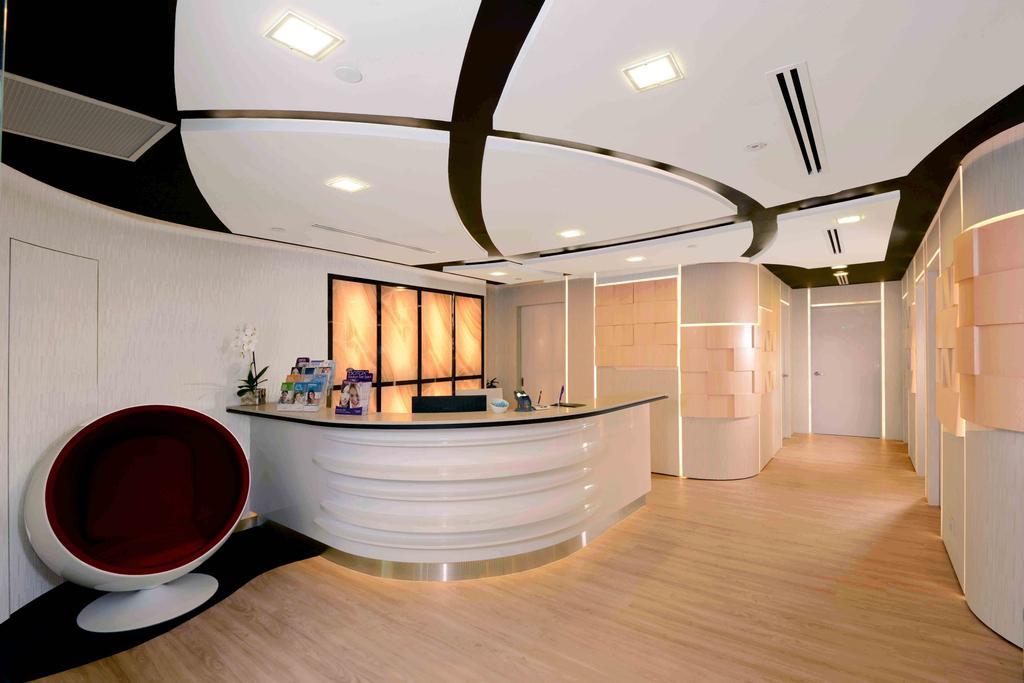 The Chelsea Clinic, Commercial, Interior Designer, Urban Habitat Design, Modern, Corridor, Cup