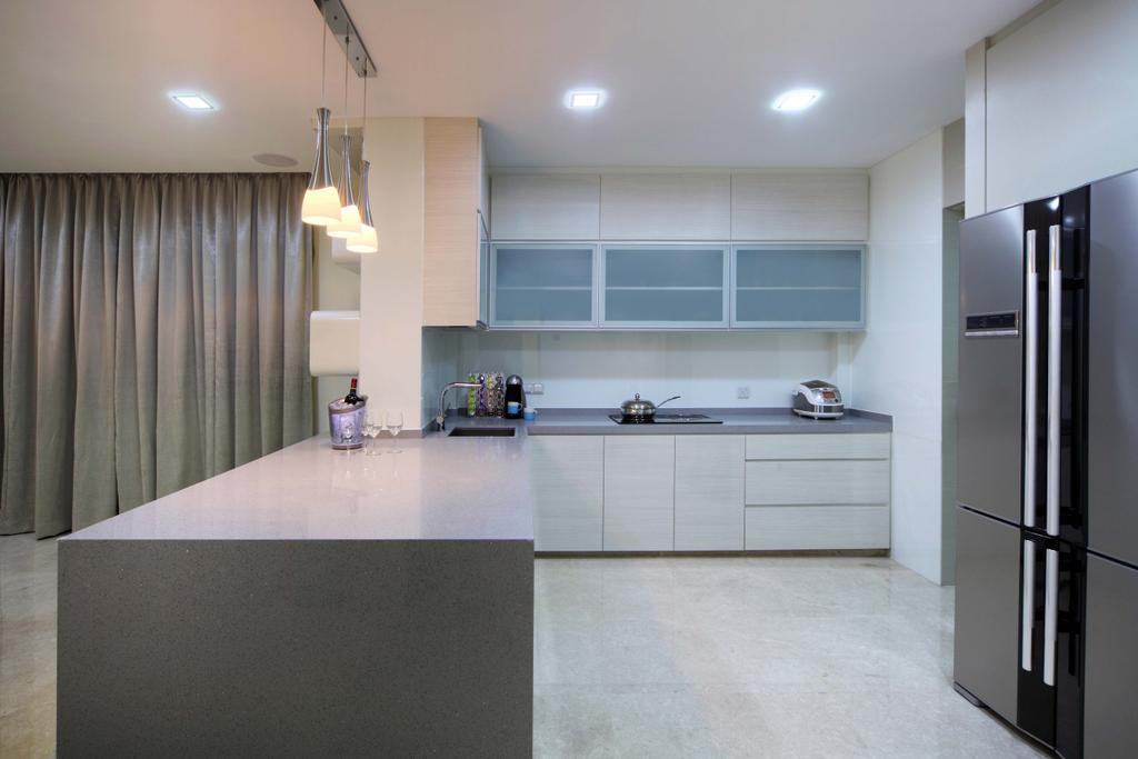 Modern, Landed, Kitchen, Lentor Street, Interior Designer, De Exclusive Design Group, Tile