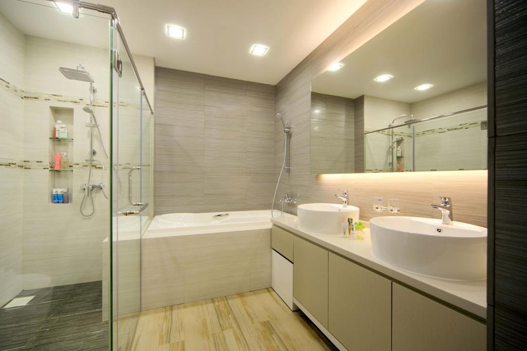 Modern, Landed, Bathroom, Lentor Street, Interior Designer, De Exclusive Design Group, Indoors, Interior Design, Room