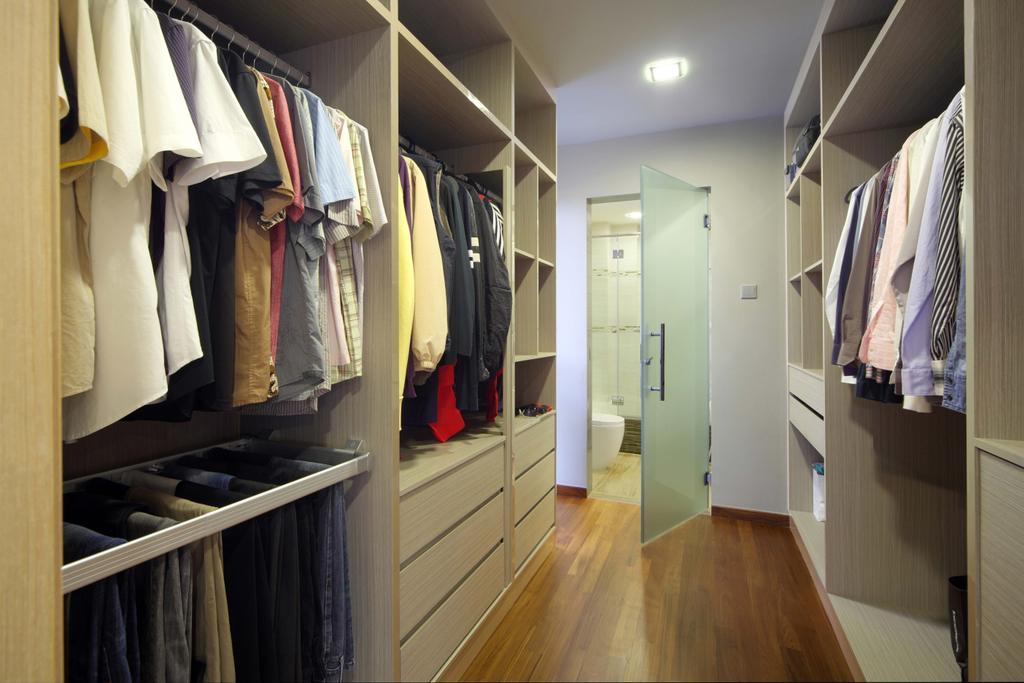 Modern, Landed, Bedroom, Lentor Street, Interior Designer, De Exclusive Design Group, Flooring, Hardwood, Wood