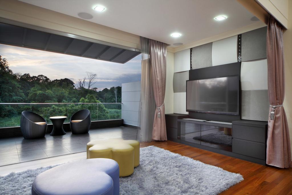 Modern, Landed, Living Room, Lentor Street, Interior Designer, De Exclusive Design Group, Indoors, Interior Design, Pot