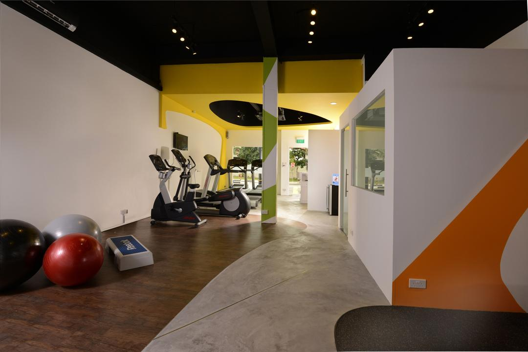 Gym & Tonic, Urban Habitat Design, Modern, Commercial, Flooring, Indoors, Interior Design, Exercise, Fitness, Gym, Sport, Sports, Working Out, Flora, Food, Fruit, Plant, Plum, Produce