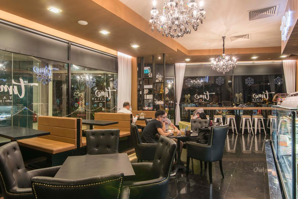 East Village, Commercial, Interior Designer, De Exclusive Design Group, Contemporary, Couch, Furniture, Cafe, Restaurant, Chair, Food, Food Court