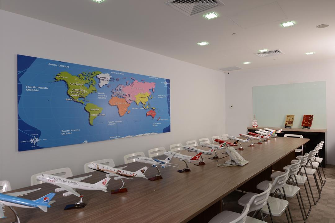 CS Travel, Urban Habitat Design, Modern, Commercial, Conference Room, Indoors, Meeting Room, Room, Aircraft, Transportation, Chair, Furniture
