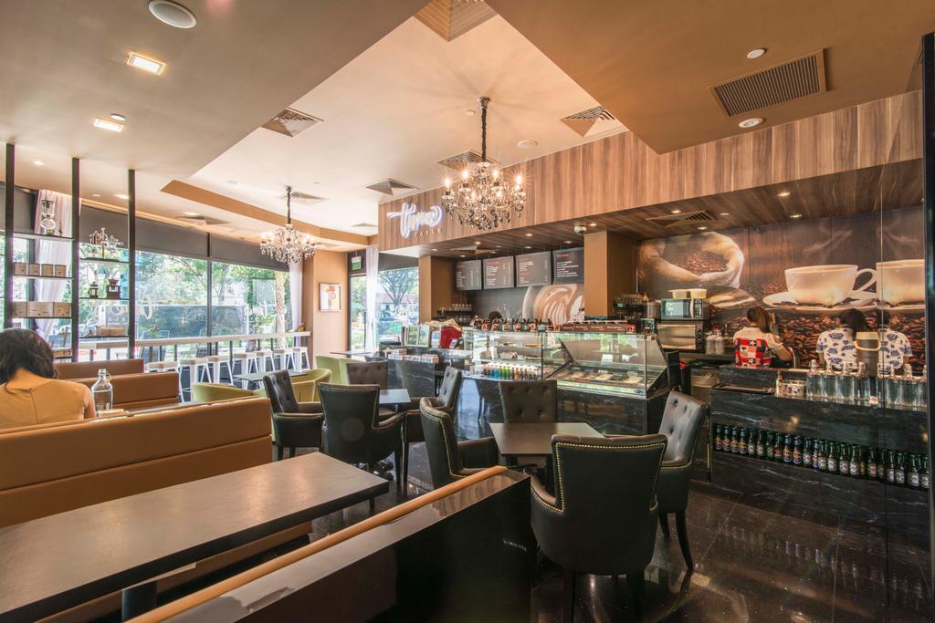 East Village, Commercial, Interior Designer, De Exclusive Design Group, Contemporary, Couch, Furniture, Chair, Bar Counter, Pub, Cafe, Restaurant