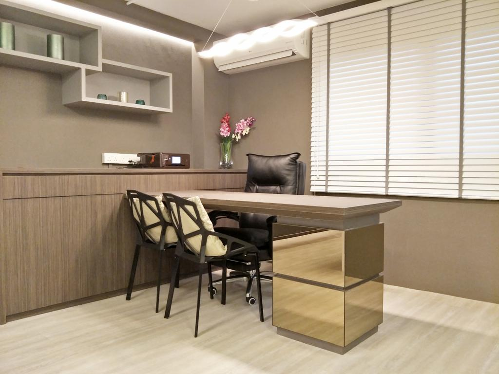 Showroom, Commercial, Interior Designer, Design Story, Modern, Minimalistic, Molding, Dining Table, Furniture, Table, Chair