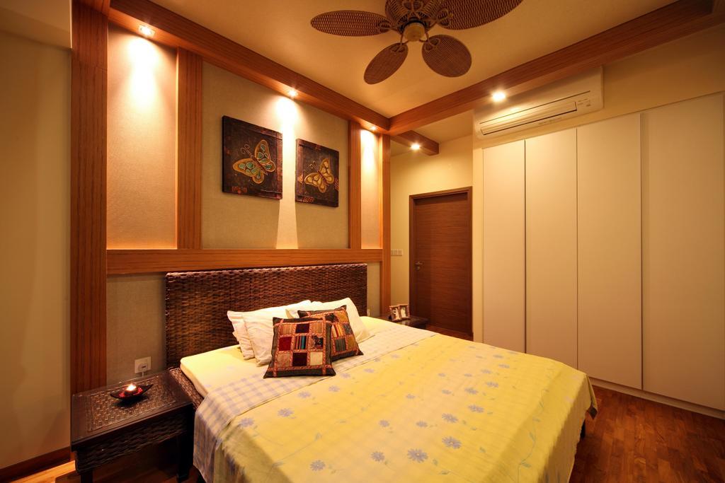 Contemporary, Condo, Bedroom, Double Bay Residences (Block 19B), Interior Designer, De Exclusive Design Group, Flooring, Indoors, Interior Design, Room, Door, Sliding Door, Art, Bed, Furniture, Plywood, Wood
