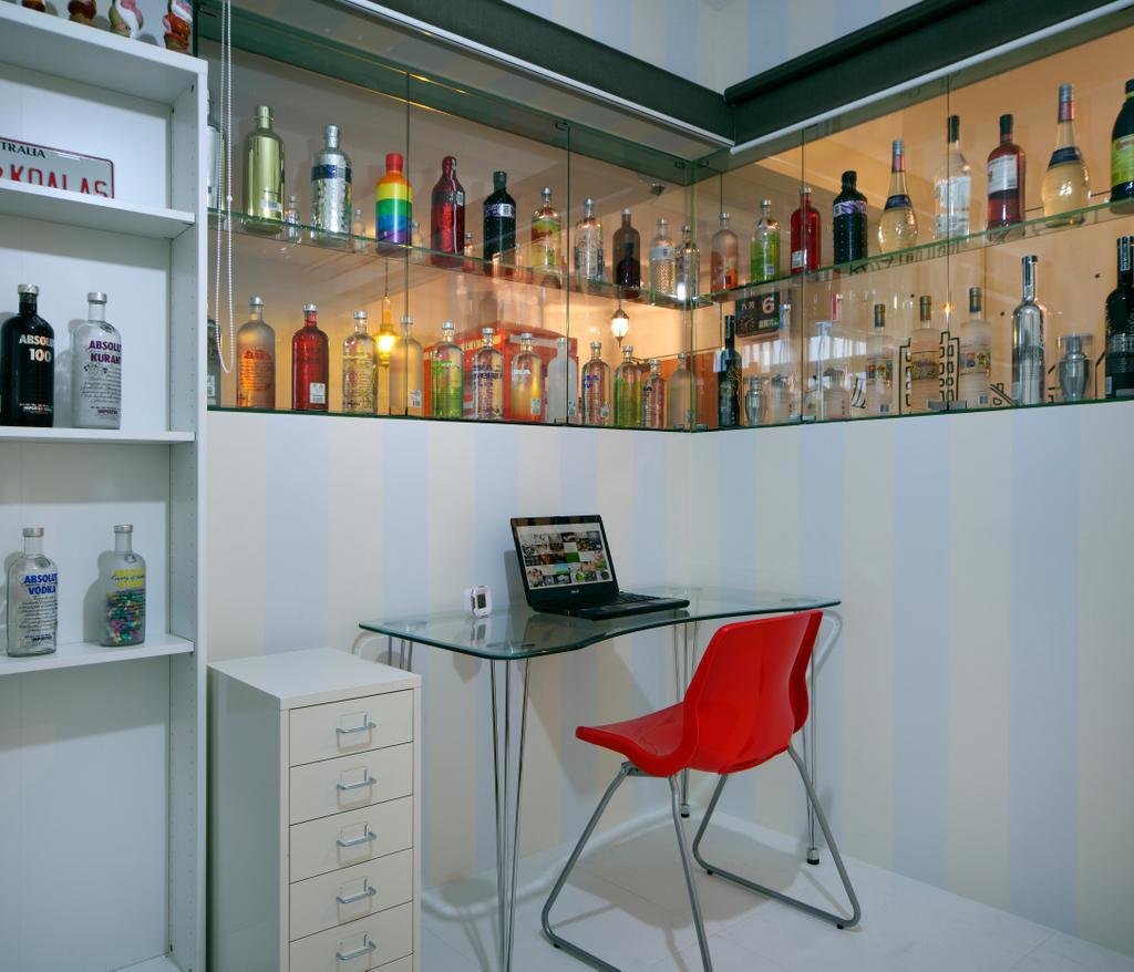 Contemporary, HDB, Study, Compassvale Lane (Block 211D), Interior Designer, De Exclusive Design Group, Chair, Furniture