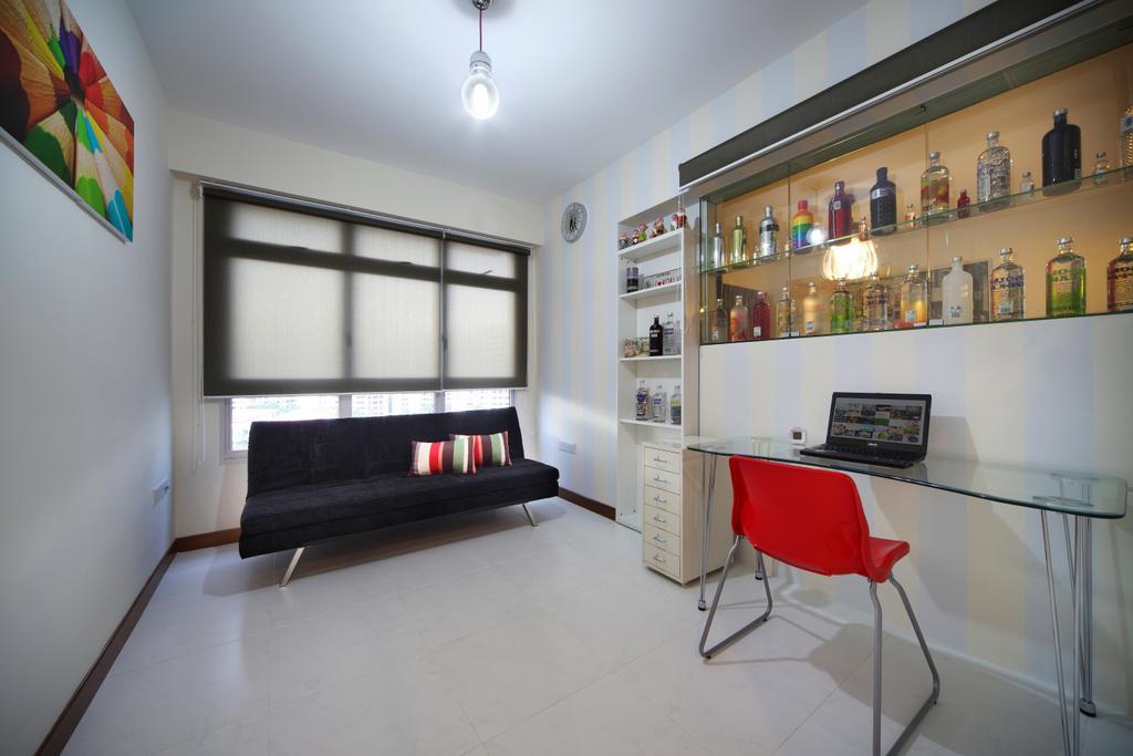 Contemporary, HDB, Study, Compassvale Lane (Block 211D), Interior Designer, De Exclusive Design Group, Chair, Furniture, Art, Modern Art, Indoors, Room, Interior Design