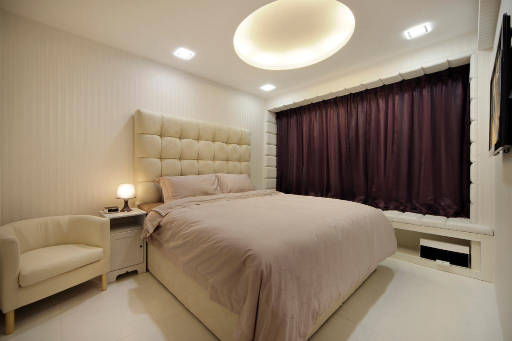 Contemporary, HDB, Bedroom, Compassvale Lane (Block 211D), Interior Designer, De Exclusive Design Group, Bed, Furniture, Indoors, Interior Design, Room