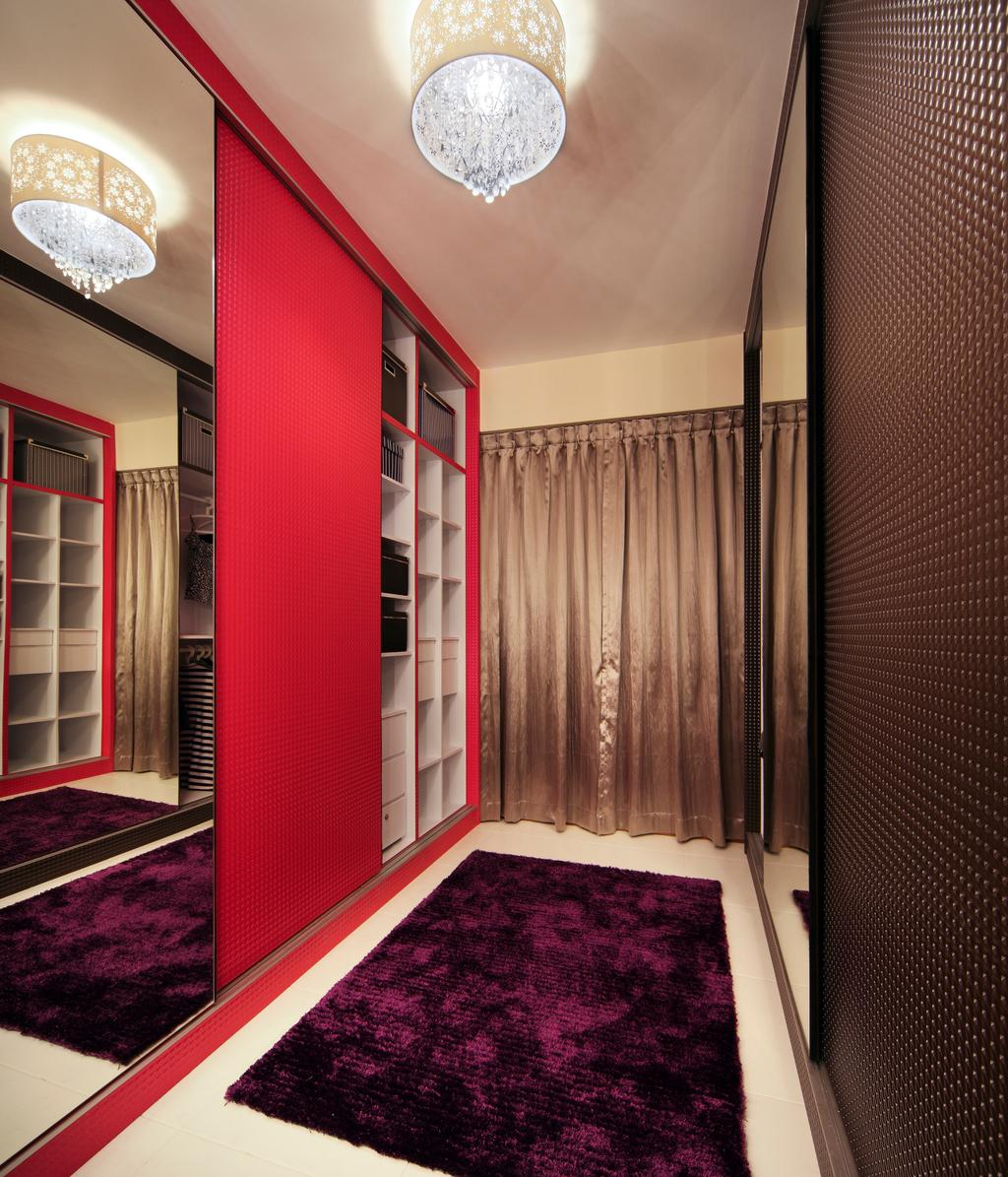 Contemporary, HDB, Bedroom, Compassvale Lane (Block 211D), Interior Designer, De Exclusive Design Group, Corridor