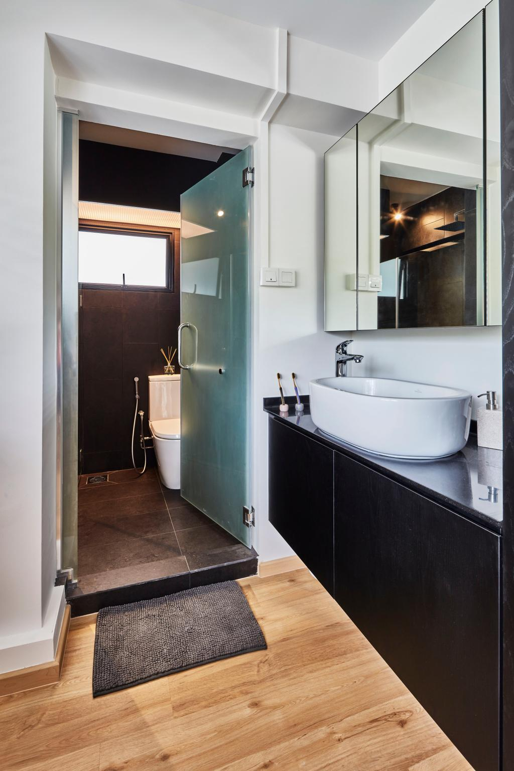 Contemporary, HDB, Bathroom, Pasir Ris Street 12 (Block 191), Interior Designer, Voila, Indoors, Interior Design, Room