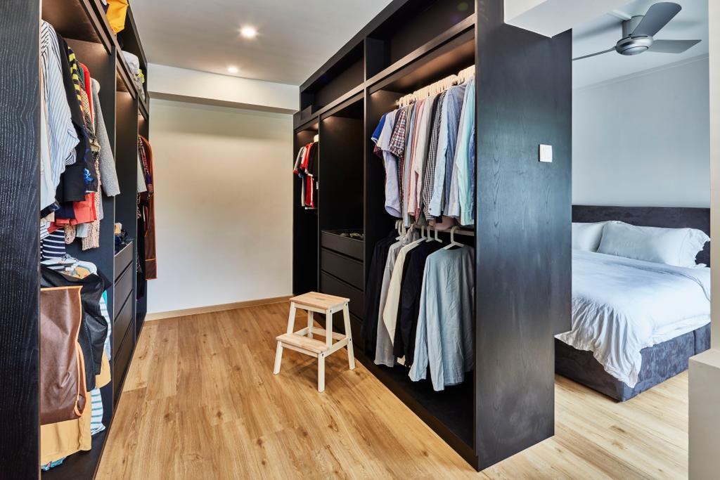 Contemporary, HDB, Bedroom, Pasir Ris Street 12 (Block 191), Interior Designer, Voila, Bed, Furniture, Bar Stool