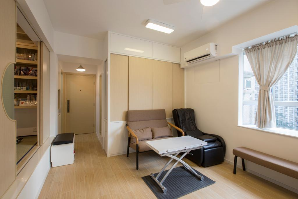 傳統, 私家樓, 客廳, 康濤閣, 室內設計師, am PLUS Designs Limited, Couch, Furniture, Chair, Indoors, Interior Design