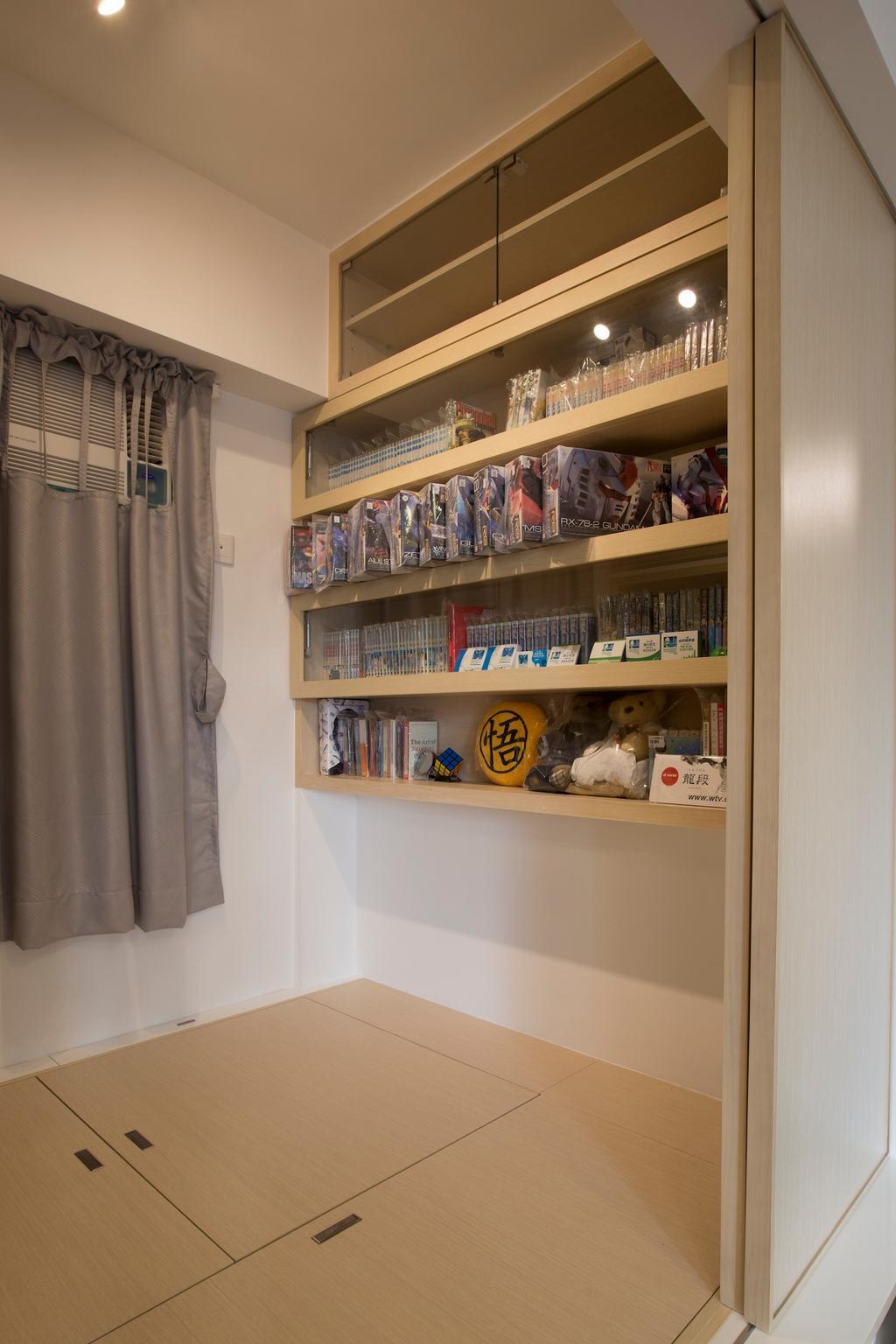 傳統, 私家樓, 睡房, 康濤閣, 室內設計師, am PLUS, Bookcase, Furniture, Pantry, Shelf, Book
