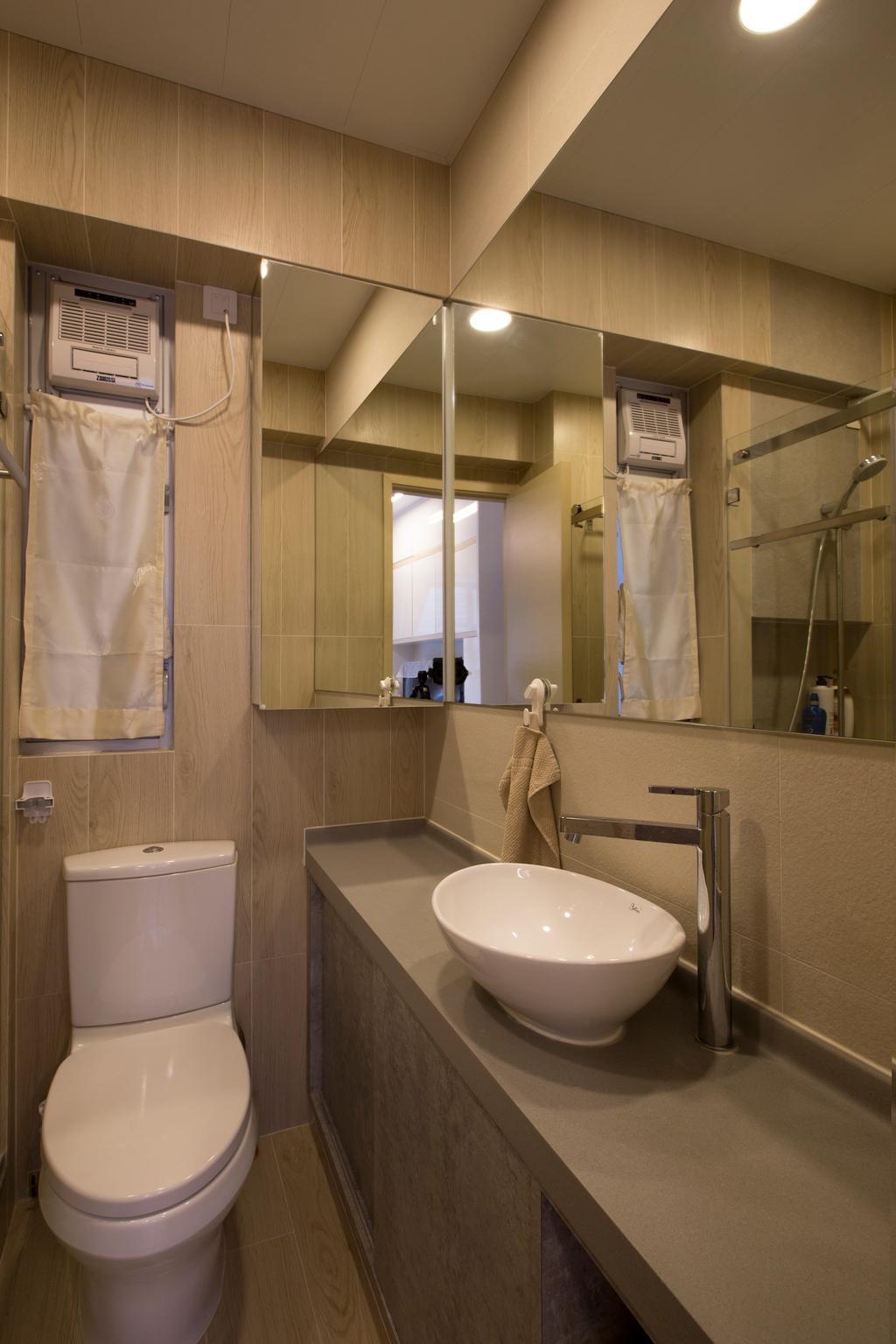 傳統, 私家樓, 浴室, 康濤閣, 室內設計師, am PLUS, Sink, Indoors, Interior Design, Room