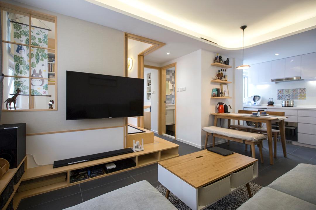 珍珠閣, am PLUS, 過渡時期, 傳統, 客廳, 私家樓, Dining Table, Furniture, Table, Couch, Blackboard, Indoors, Interior Design