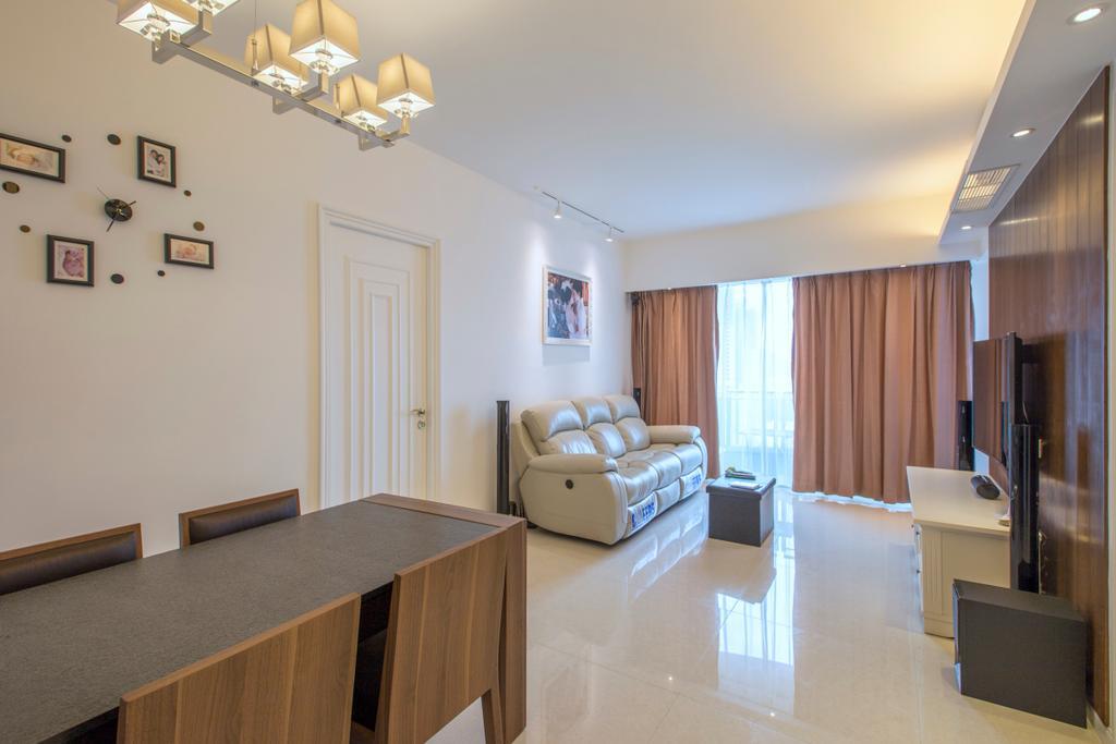 摩登, 私家樓, 客廳, 緻藍天, 室內設計師, am PLUS, Couch, Furniture, Indoors, Interior Design