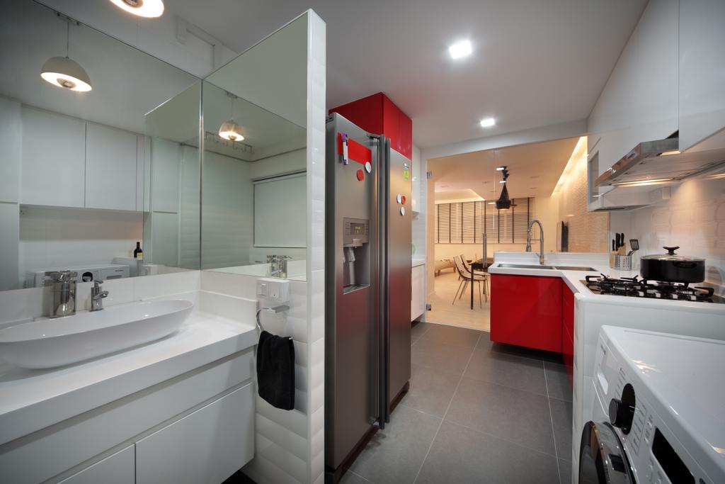 Contemporary, HDB, Kitchen, Bishan (Block 196), Interior Designer, De Exclusive Design Group, Indoors, Interior Design, Appliance, Electrical Device, Oven