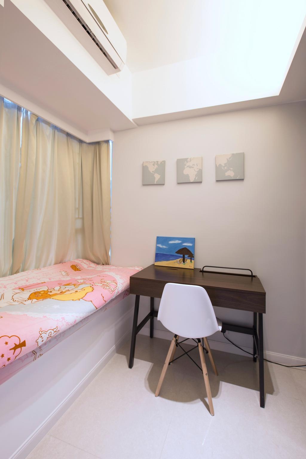 摩登, 私家樓, 睡房, 緻藍天, 室內設計師, am PLUS, Chair, Furniture, Indoors, Interior Design, Room