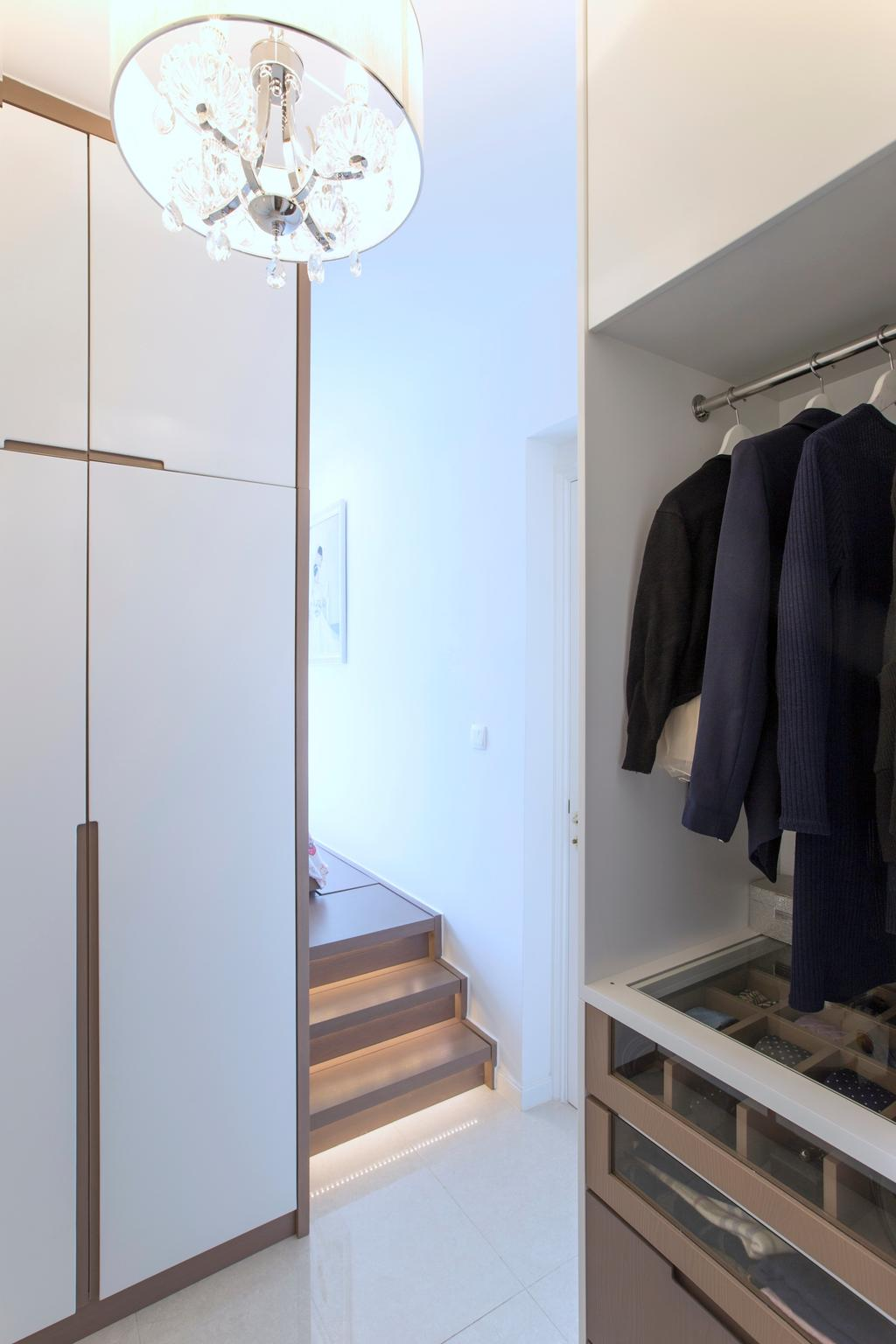 摩登, 私家樓, 睡房, 緻藍天, 室內設計師, am PLUS, Coat Rack, Clothing, Coat, Overcoat, Suit
