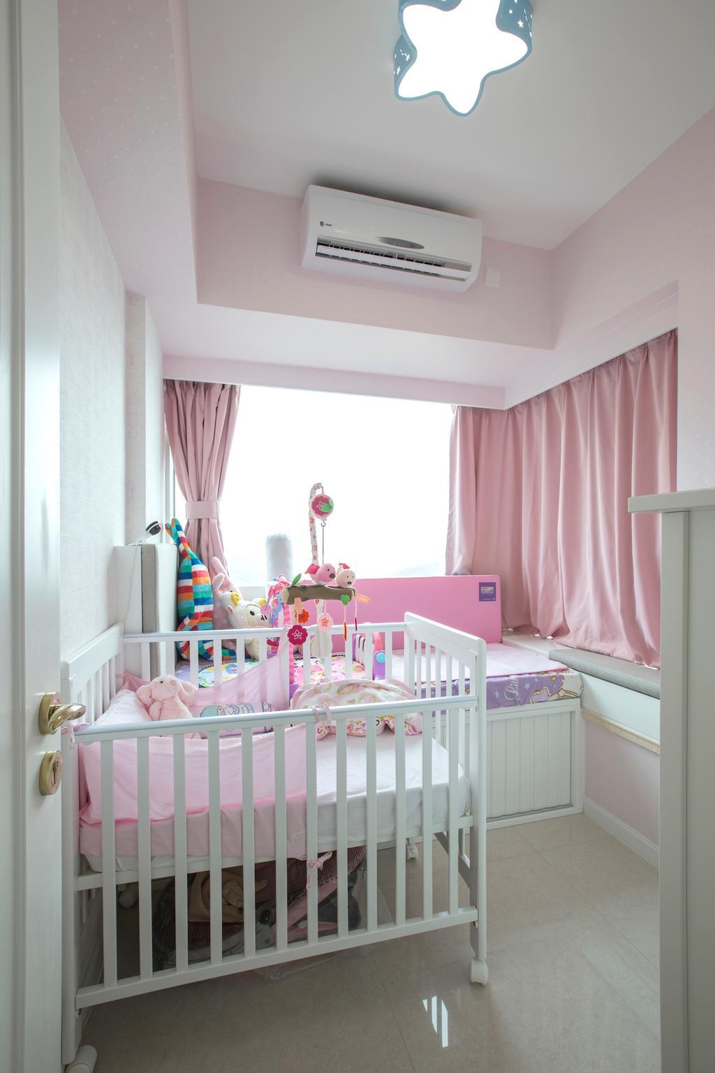 摩登, 私家樓, 睡房, 緻藍天, 室內設計師, am PLUS, Crib, Furniture, Towel