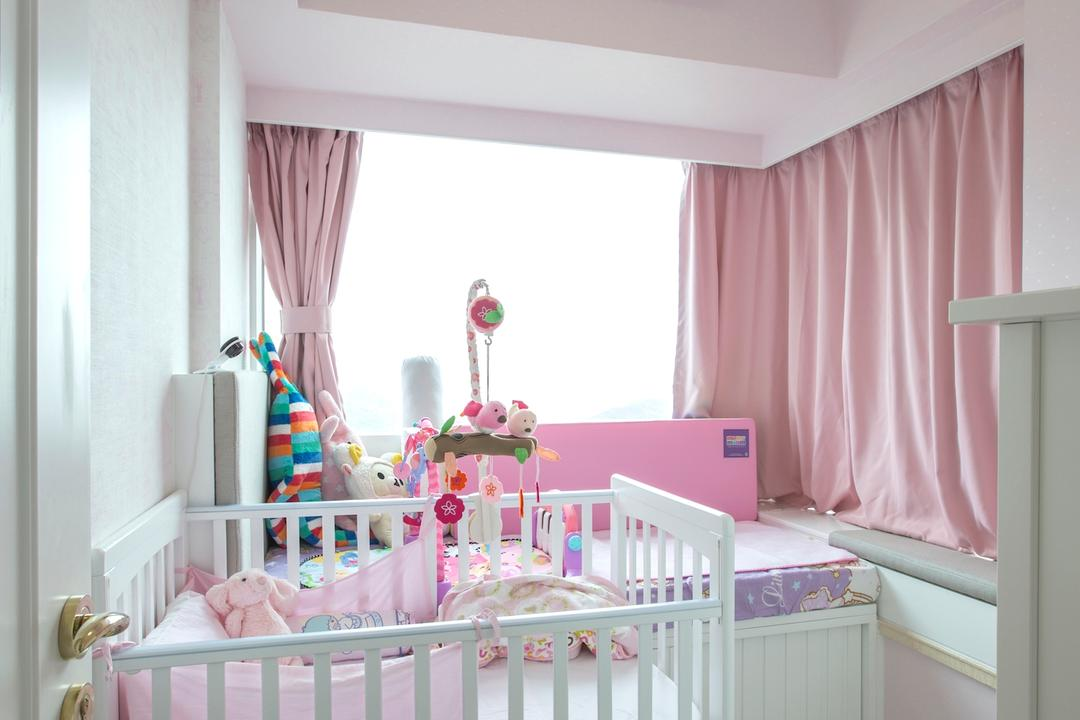 緻藍天, am PLUS, 摩登, 睡房, 私家樓, Crib, Furniture, Towel