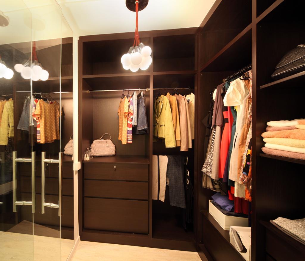 Contemporary, HDB, Bedroom, Bishan (Block 196), Interior Designer, De Exclusive Design Group, Closet