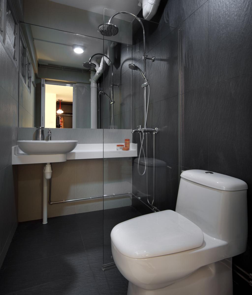 Contemporary, HDB, Bathroom, Bishan (Block 196), Interior Designer, De Exclusive Design Group, Toilet