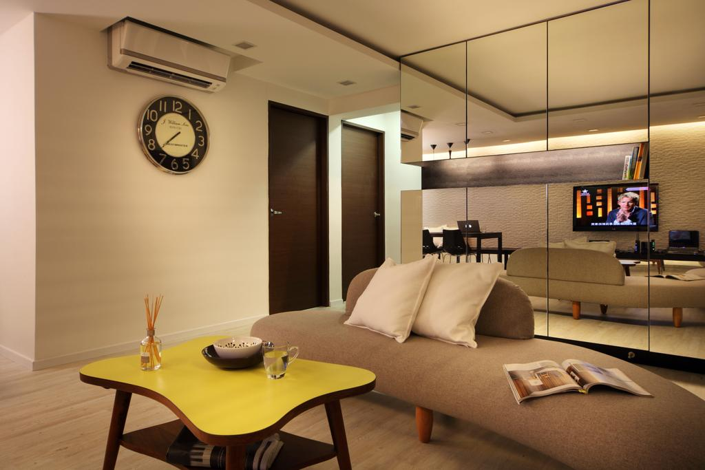 Contemporary, HDB, Living Room, Bishan (Block 196), Interior Designer, De Exclusive Design Group, Bedroom, Indoors, Interior Design, Room, Dining Table, Furniture, Table, Couch, Chair