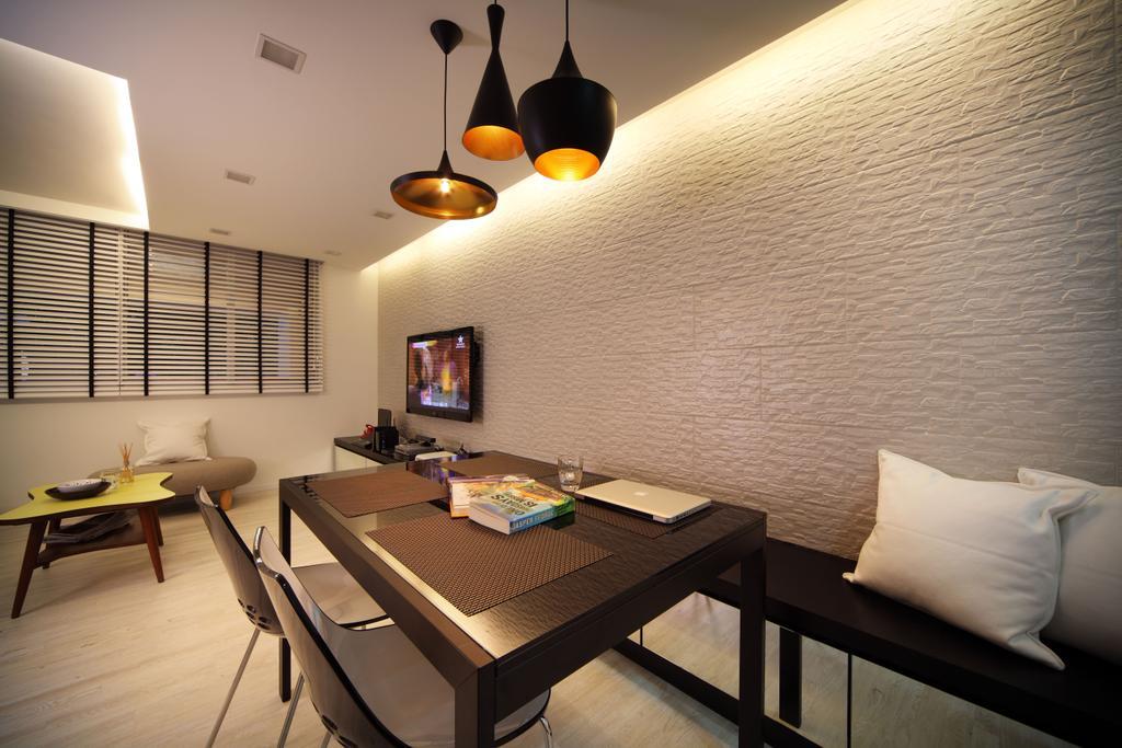 Contemporary, HDB, Dining Room, Bishan (Block 196), Interior Designer, De Exclusive Design Group, Chair, Furniture, Indoors, Interior Design, Room, Dining Table, Table
