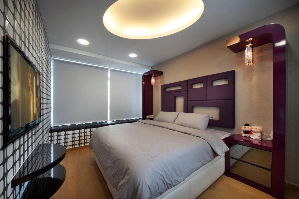 Traditional, HDB, Bedroom, Bendemeer Road (Block 38B), Interior Designer, De Exclusive Design Group, Electronics, Keyboard, Balcony, Bed, Furniture, Indoors, Room, Interior Design