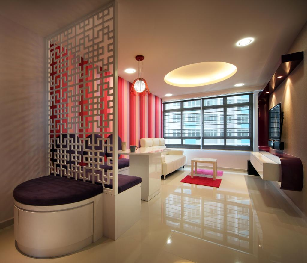 Traditional, HDB, Living Room, Bendemeer Road (Block 38B), Interior Designer, De Exclusive Design Group, Couch, Furniture, Indoors, Interior Design, Room