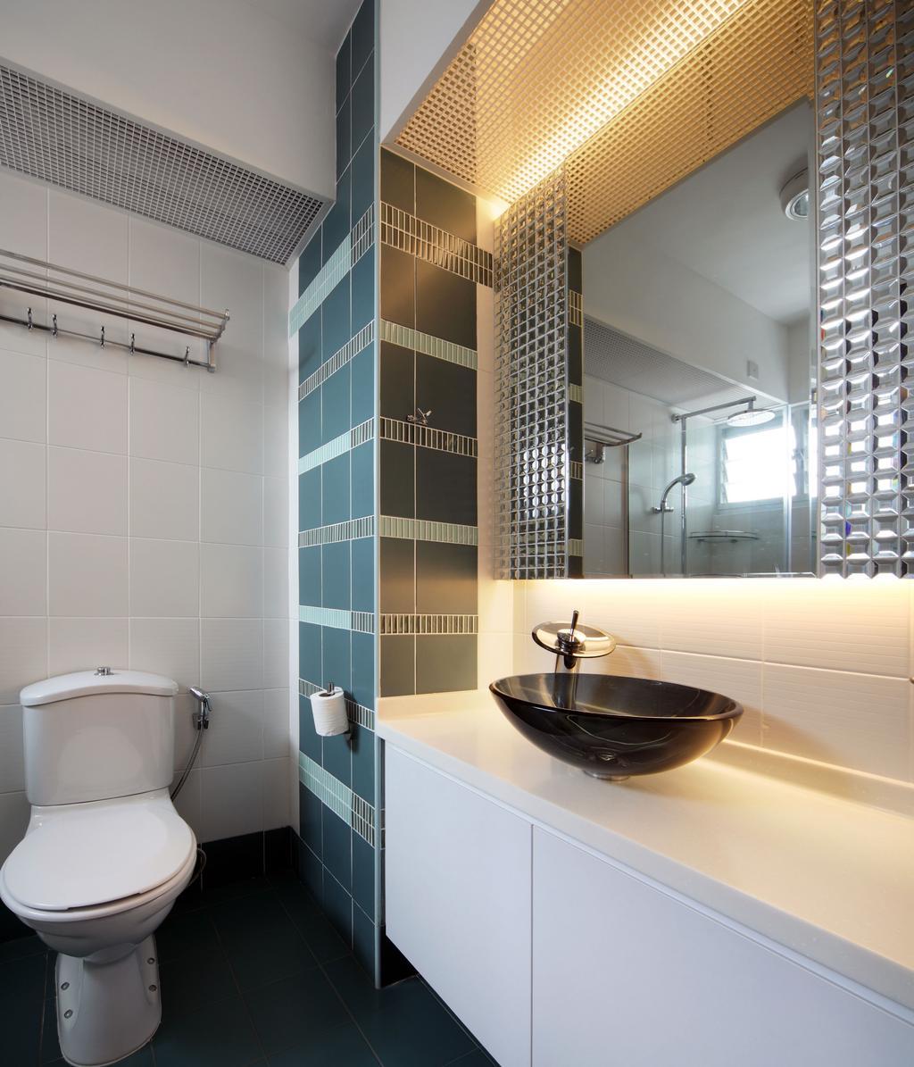 Traditional, HDB, Bathroom, Bendemeer Road (Block 38B), Interior Designer, De Exclusive Design Group, Toilet, Indoors, Interior Design, Room