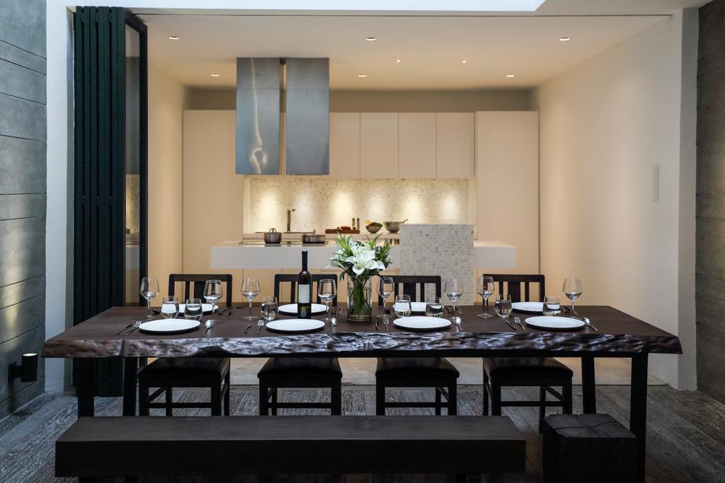 Modern, Landed, Dining Room, 42 Jalan Irrawaddy, Interior Designer, Nevermore Group, Dining Table, Furniture, Table, Indoors, Interior Design, Room
