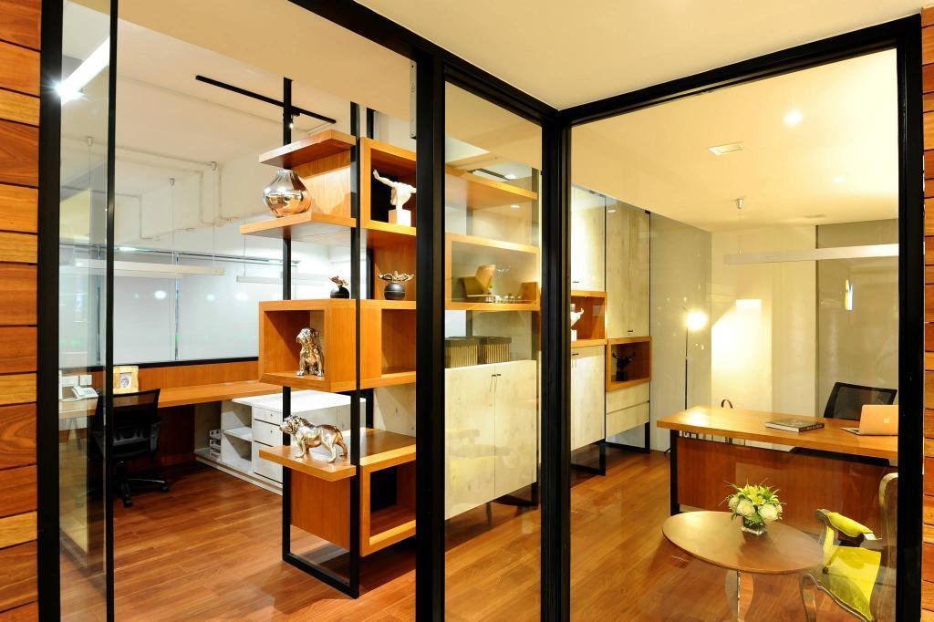 Showroom, Commercial, Interior Designer, M innovative Builders, Dining Table, Furniture, Table, Lighting, Indoors, Interior Design, Room, Apartment, Building, Housing, Loft