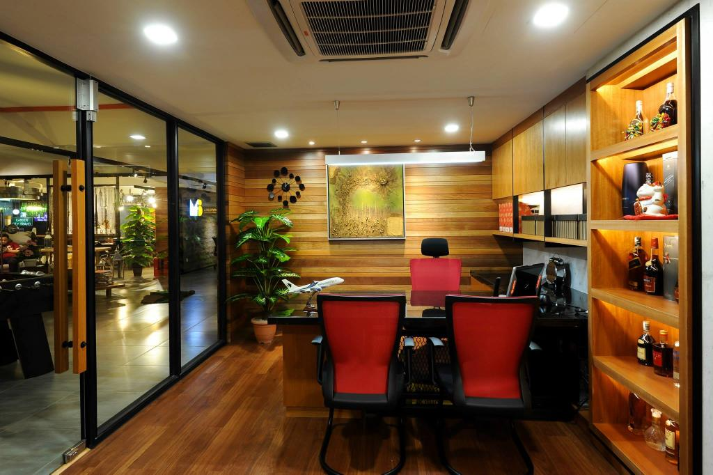 Showroom, Commercial, Interior Designer, M innovative Builders, Flora, Jar, Plant, Potted Plant, Pottery, Vase, Chair, Furniture, Indoors, Interior Design, Cafe, Restaurant