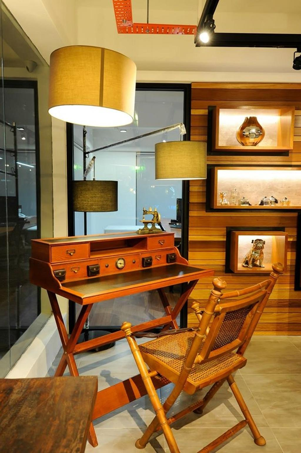 Showroom, Commercial, Interior Designer, M innovative Builders, Lamp, Table Lamp, Chair, Furniture