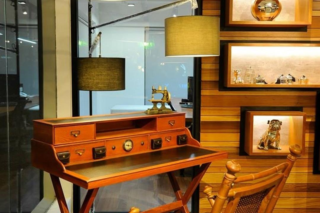 Showroom, M innovative Builders, Commercial, Lamp, Table Lamp, Chair, Furniture