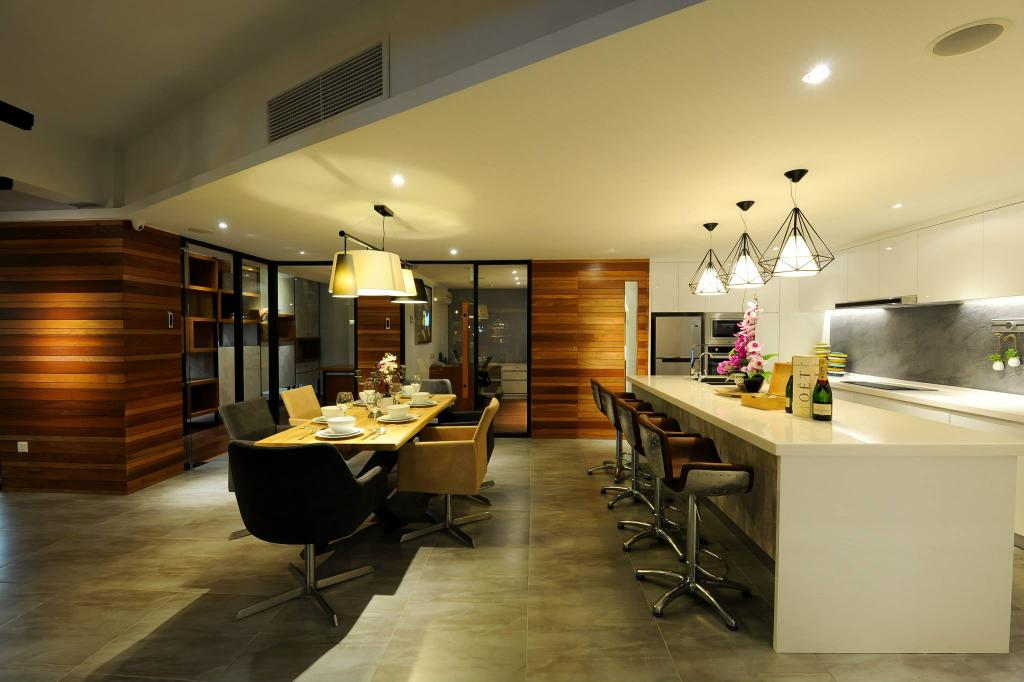 Showroom, Commercial, Interior Designer, M innovative Builders, Dining Table, Furniture, Table, Dining Room, Indoors, Interior Design, Room
