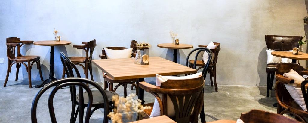 Wave Cafe, Commercial, Interior Designer, M innovative Builders, Industrial, Minimalistic, Furniture, Dining Table, Table, Chair, Dining Room, Indoors, Interior Design, Room